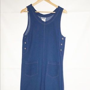 Links womens maxi jumper dress Medium blue